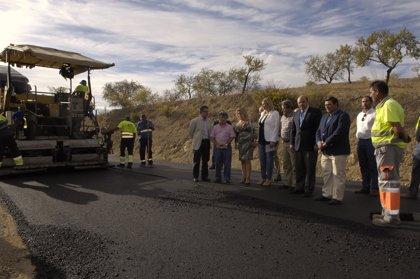 Diputación avanza en las obras de la carretera GR-5202 entre Murtas y Turón con una inversión de 794.000 euros