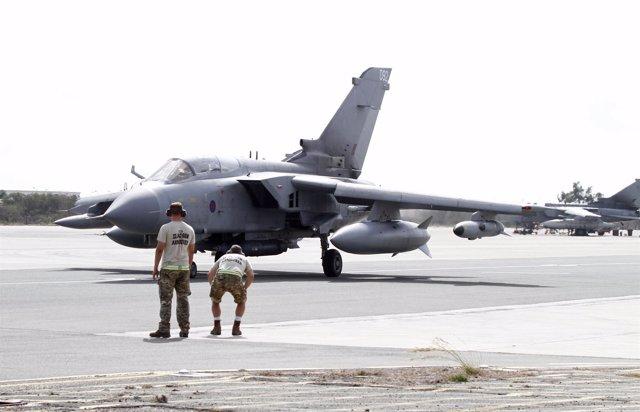 Un caza británico 'Tornado' en Chipre
