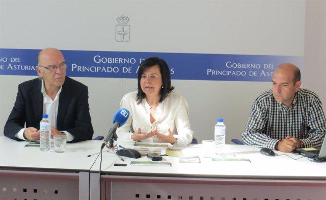 Rueda de prensa de María Jesús Álvarez