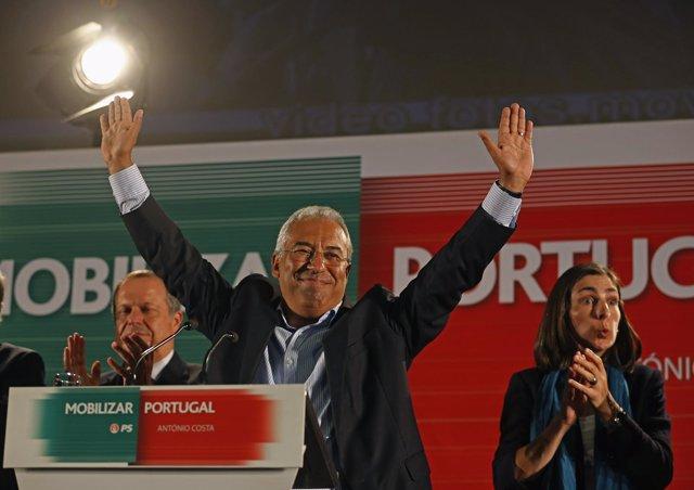 El alcalde de Lisboa y candidato socialista a primer ministro, António Costa