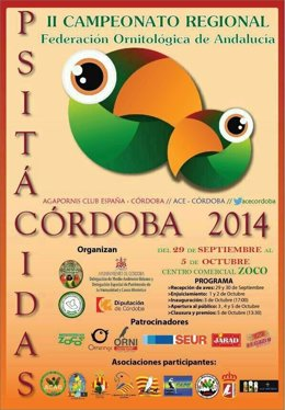 Cartel del concurso de aves exóticas