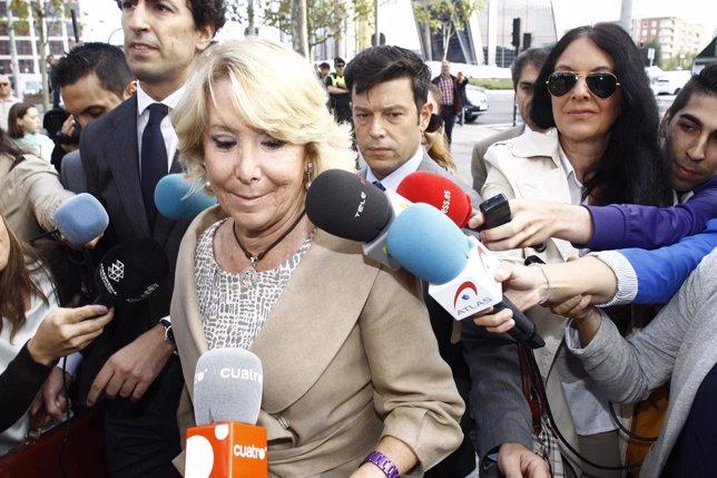 Aguirre llega a los juzgados