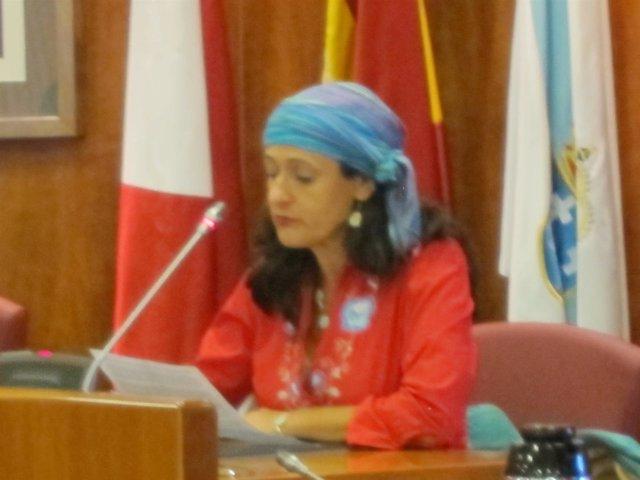 Bea Figueroa en el pleno municipal de Vigo