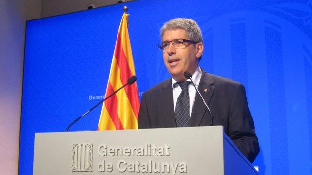 Rueda de prensa del portavoz del Govern, Francesc Homs