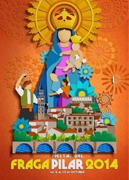 Cartel de las Fiestas del Pilar de Fraga