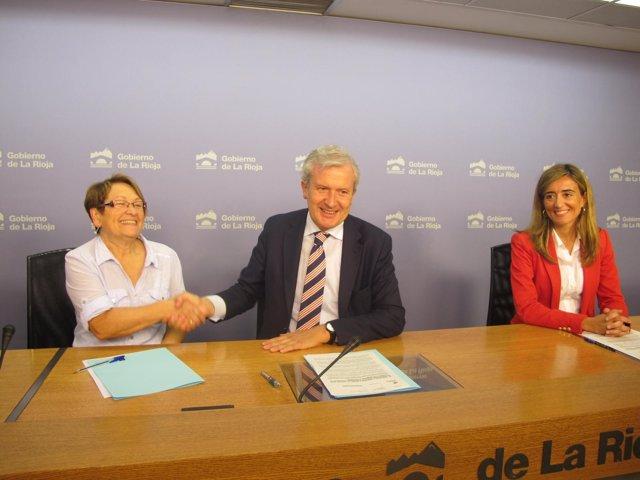 CEIS Rioja y ASPRODEMA firman convenio