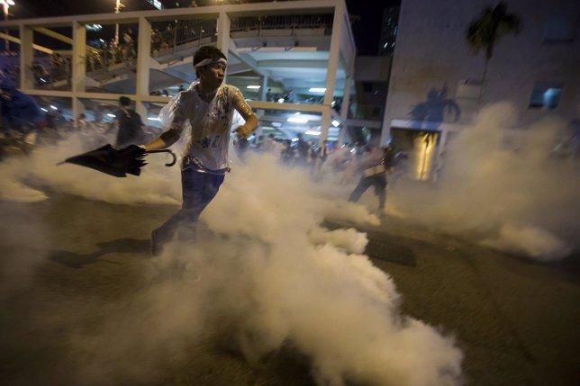Contra el gas lacrimógeno