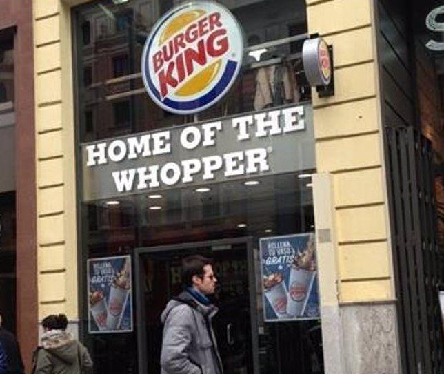 Cadena de cómida rápida Burger King