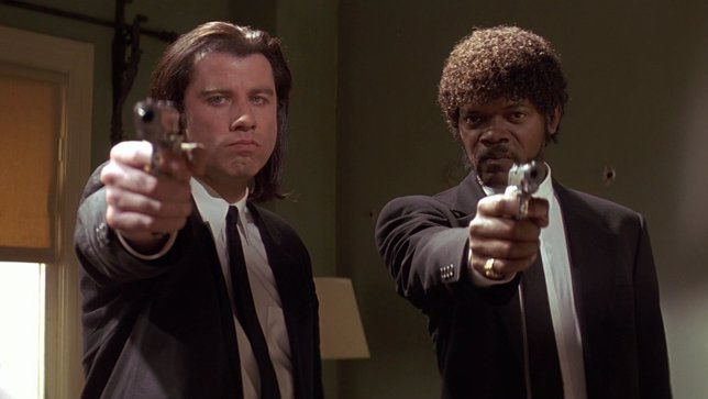 Samuel L. Jackson y John Travolta en Pulp Fiction