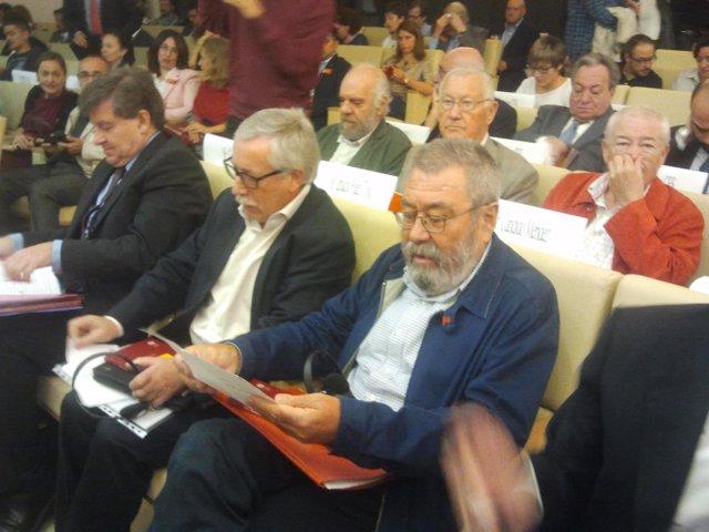 Los líderes de CC.OO y UGT, Ignacio Fernández Toxo y Cándido Méndez