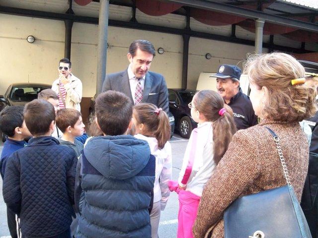 Suárez-Quiñones durante la jornada de puertas abiertas de la Comisaría de León