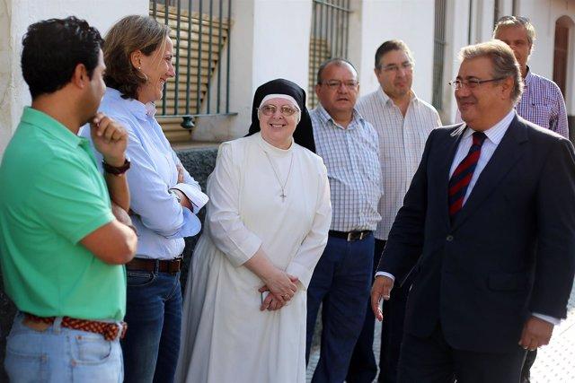 El alcalde de Sevilla, Juan Ignacio Zoido, visitando las obras de San Julián