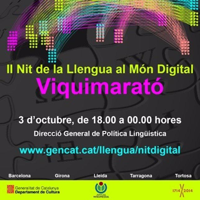 Cartel II Nit de la Llengua al Món Digital