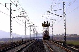 Catenaria (electrificación) de una línea ferroviaria