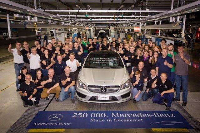 Producción de la unidad 250.000 en la planta de Mercedes en Hungría
