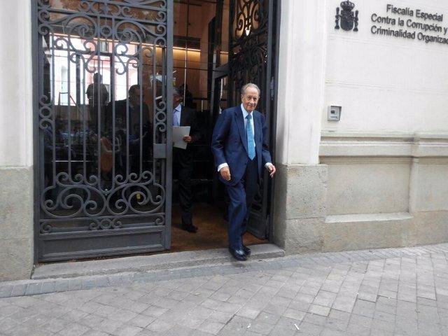 Juan Miguel Villar Mir tras declarar como imputado ante el fiscal Pedro Horrach