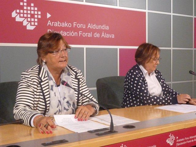 Iciar Lamarain y Carmen Ruiz en rueda de prensa