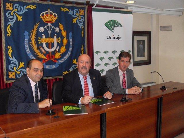Renovación de acuerdo entre Unicaja y Colegio de Ingenieros Técnicos de Jaén
