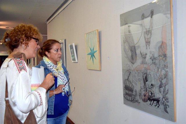 Inauguración en Punta Umbría de la muestra del VII Premio de Pintura de la UNIA.