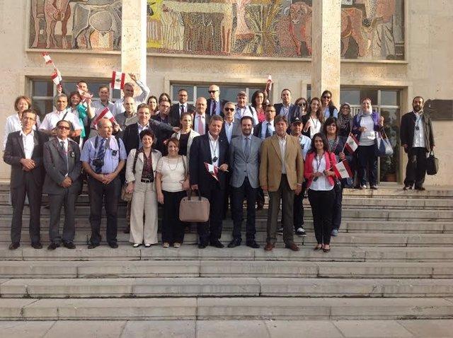 La delegación en el Campus Universitario de Rabanales, en Córdoba