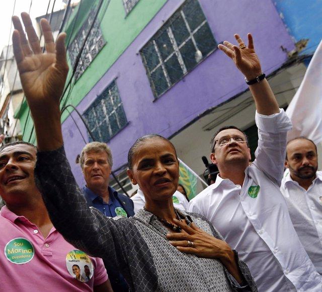 Marina Silva en Rocinha, Rio de Janeiro