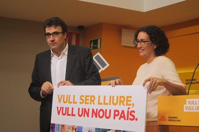 Luís Salvadó y Marta Rovira
