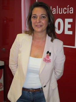 Isabel Ambrosio en la sede del PSOE de Córdoba