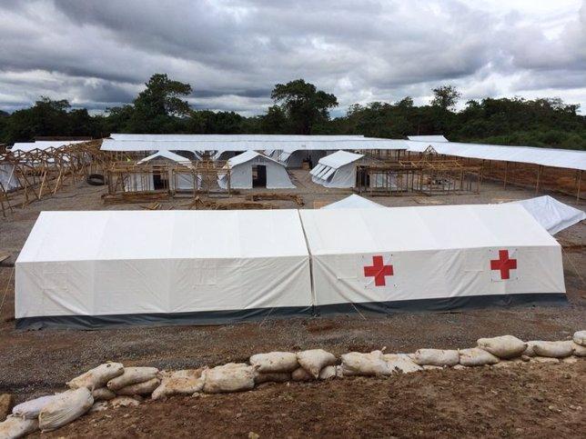 Centro de Tratamiento del ébola (CTE) de Cuz Roja España en Sierra Leonas