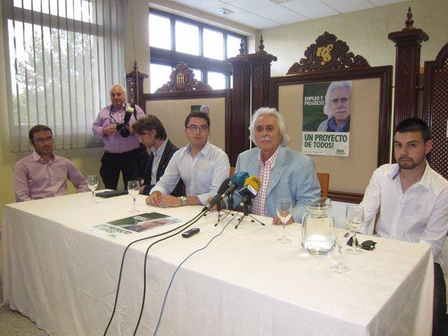 Rafael Gómez en la presentación de las juventudes de UCOR