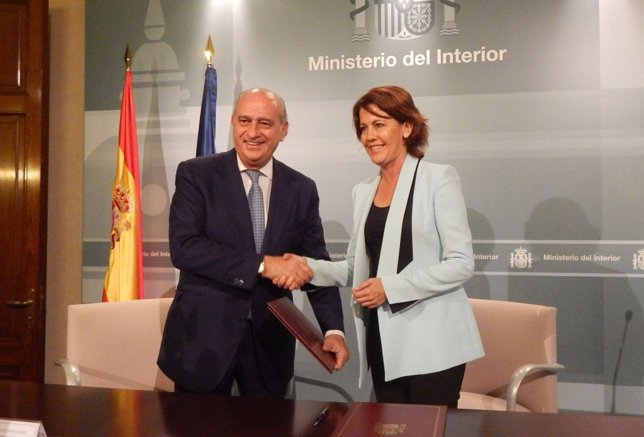 Yolanda Barcina y Jorge Fernández Díaz.