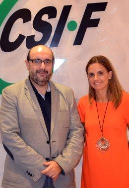 La secretaria de Administraciones del PSOE y el presidente de CSI-F