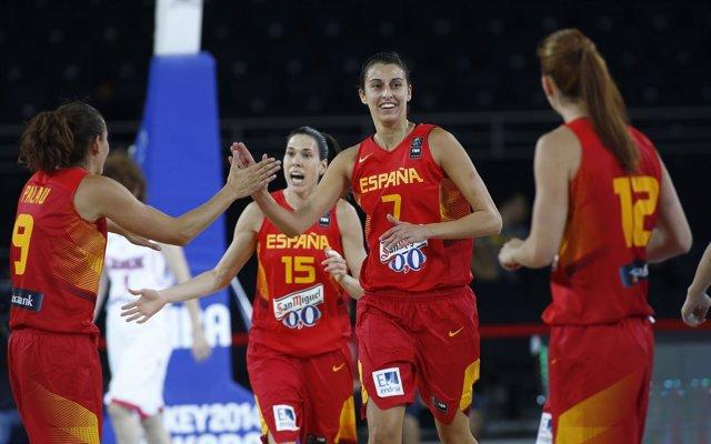 Selección española femenina España Japón Mundial