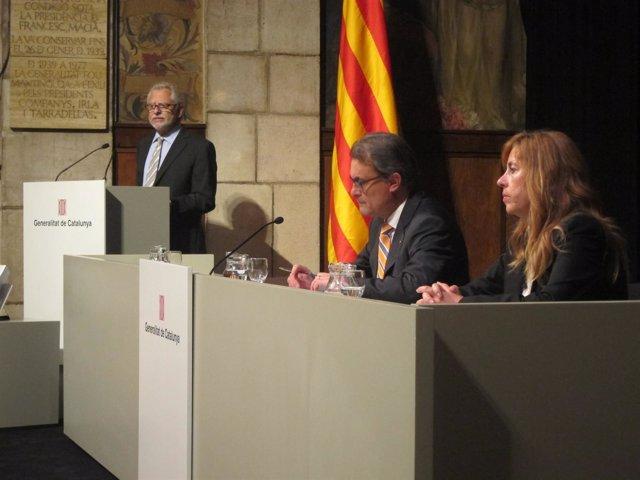 Carles Viver Pi-Sunyer, pte CATN; pte.A.Mas; vicepta.CATN, Núria Bosch