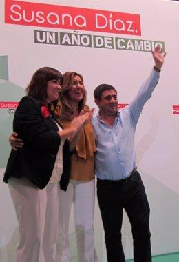 Micaela Navarro, Susana Díaz y Francisco Reyes