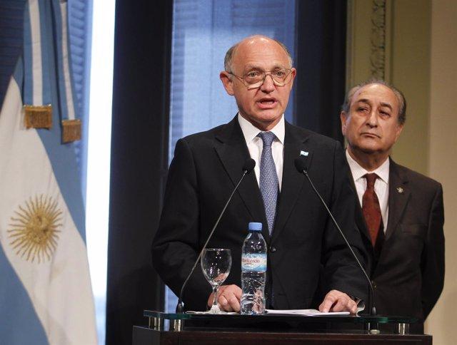 El ministro de Asuntos Exteriores de Argentina, Héctor Timerman