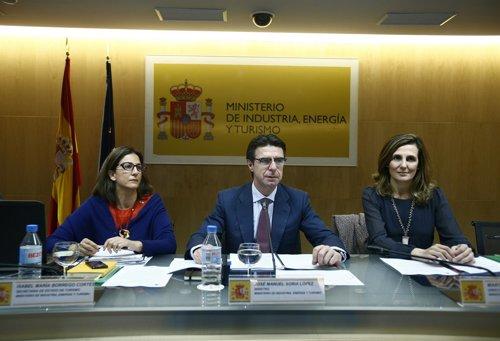José Manuel Soria, Isabel Borrego y Marta Blanco Conferencia Sectorial Turismo