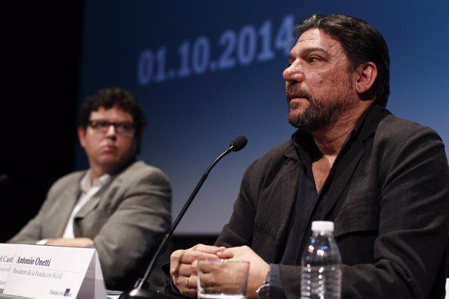 Rubén Gutiérrez y Antonio Onetti, de la Fundación SGAE
