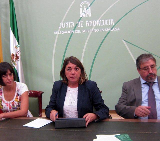 Consejera de Fomento y Vivienda, Elena Cortés, en Málaga