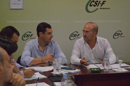 """Moreno ve """"preocupante"""" la situación de los empleados públicos y se compromete con el restablecimiento de sus derechos"""