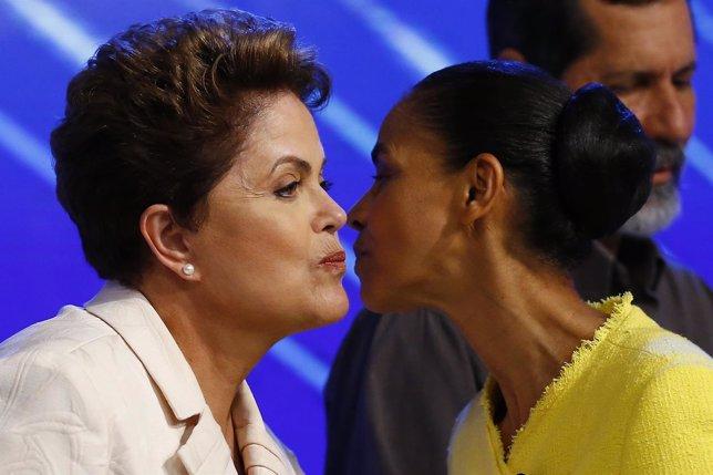 Dilma Rousseff y Marina Silva
