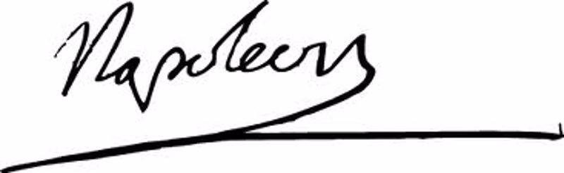 Firma de Napoleón