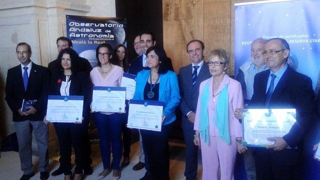 Entrega de las distinciones Starlight a los pueblos de la Sierra Sur de Jaén.