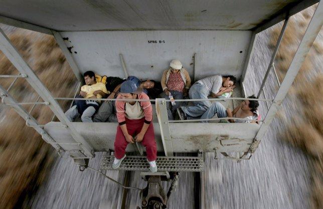Inmigrantes México - Estados Unidos en un tren