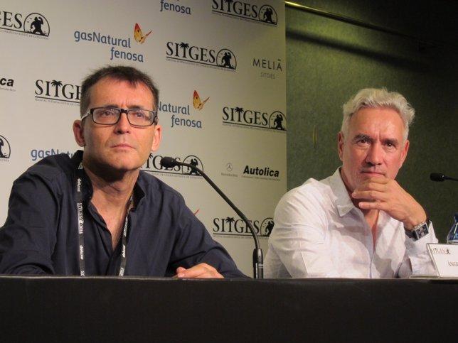 El dtor.Del festival À.Sala y el cineasta R.Emmerich
