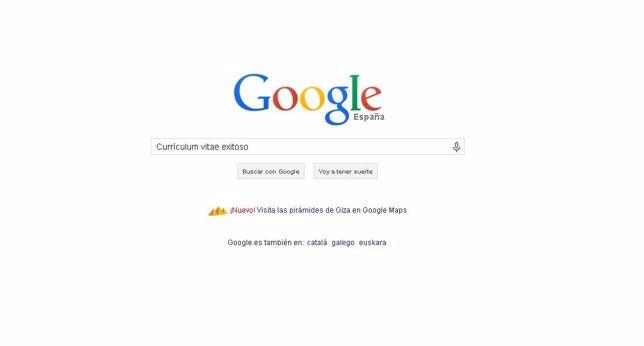 Currículum vitae. Búsqueda en google.