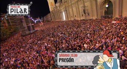 El pregón de las Fiestas del Pilar se podrá seguir en Aragón TV