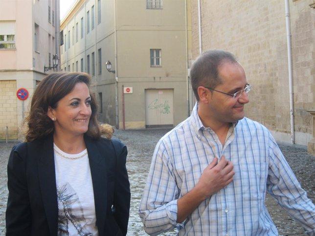 Concha Andreu y César Luena