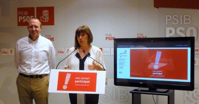 Armengol y Alcover presenta la Conferencia Política del PSIB