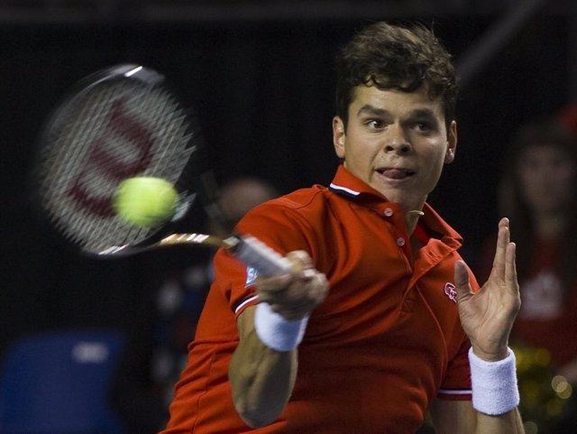 Milos Raonic (Canadá) en Copa Davis