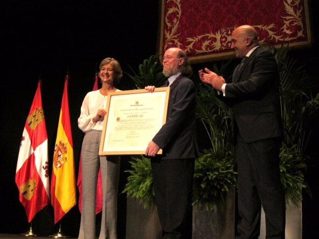 Tejerina, Carnero y Díaz en el Dia de la Provincia de Valladolid